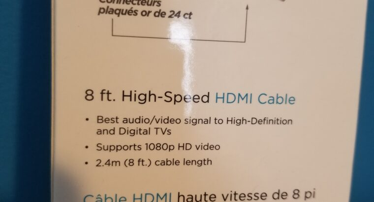 HDMI cable 8′ ft