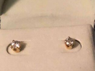 14K pure gold 1/4 Karat Diamond Flawless Earrings!!! – $150