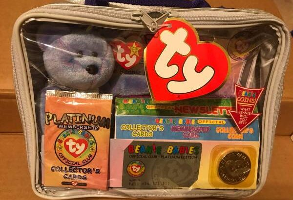 Clubby II Baby Beanie TY 1999 Unopened Limited Edition Platinum – $150