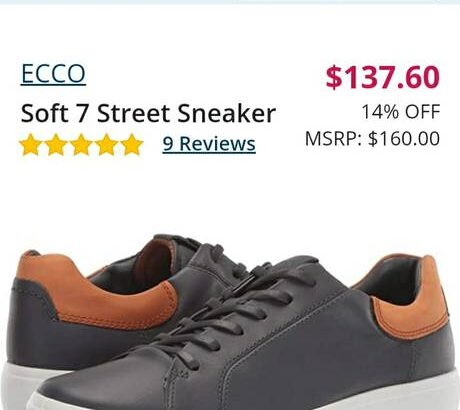 IB New ecco Men's Soft 7 Street Sneaker Size 9 / 43 Shoes – $110