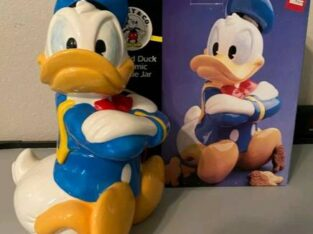 Walt Disney Donald Duck Treasure Craft Ceramic Collectible Cookie Jar – $20