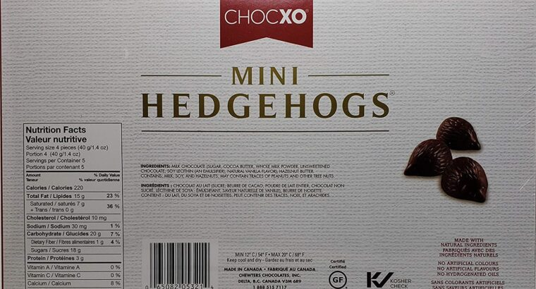 Mini Hedgehogs, Belgian Chocolate with Creamy Hazelnut Truffle Filling, 200g
